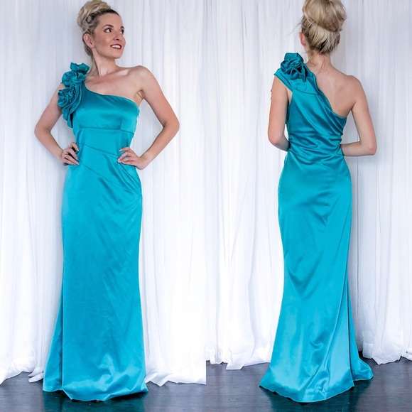 Jessica Simpson Dresses | One Shoulder Formal Evening Gown | Poshmark